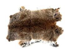 Soft Real Rabbit Fur Pelt Skin Taxidermy Animal Furs Craft Light Brown Top Grade