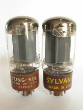 Pair 1960+/- Tung-Sol/Sylvania 5881 (6L6WGB) tubes - TV7B tested @ 41, 42,min:25