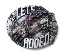 Lets Rodeo Belt Buckle 14067 new cowboy bullrider western sports belt buckles