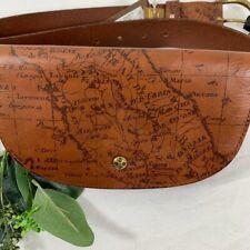 Patricia Nash Ponticelli Signature Map Print Leather Belt Bag L-XL