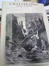 L'illustration n°1689 10 juil 1875 numéro spécial inondation de toulouse midi