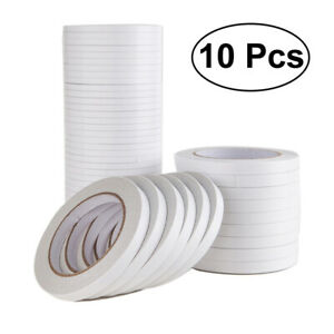 10Pcs Double-Sided Adhesive Tape for Arts Crafts Photography Scrapbooking