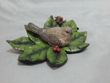 Bradford Exchange Holiday Tweets SongBird Figurine House Finch With Leaves