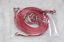 Spanngurt 4 Stück  für LKW Modell Wedico Robbe 1:14 rotes festes Band Messing