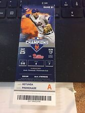 2016 NEW YORK METS VS PHILLIES TICKET STUB 9/25 METS RECORD 17-0 WIN