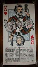 KENNY ROGERS Gambler Show Poster Print 2017 Nashville Bridgestone #'d Not Hatch