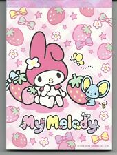 Sanrio My Melody Notepad Strawberries Bows