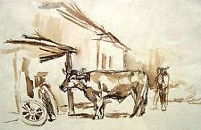 Wolfgang von Websky 1895-1992 Wangen / Zeichnung / (wohl) Schmiede in Steingaden