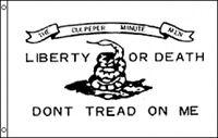 3'x5' Don't Tread On Me Culpeper Flag Liberty or Death Tea Party Patriotic 3x5