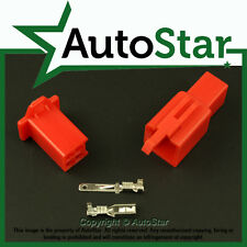 4 Way 2.8 mm Mini Conector Kit Rojo Moto Honda Motorcycle Pin conectores