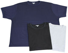 MENS 'URBAN STYLE' SHORT SLEEVE CREW NECK T SHIRT 4XL-7XL  BLACK, NAVY OR GREY