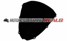 ABS Plastic Windshield Screen Black Tinted Parts For Kawasaki ZX6R 2007 2008