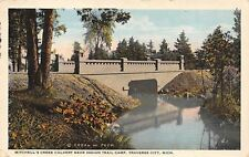 Traverse City MI Mitchell Creek Calvert nr Indian Camp 1920s Postcard