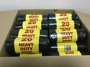 HEAVY DUTY EXTRA STRONG BLACK BIN LINERS RUBBISH BAGS WASTE REFUSE SACKS