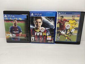 FIFA 14 & FIFA 17 & Pro Evolution 18 Ps4 Playstation 4 (Not Original Artwork)