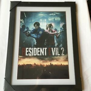 """Resident Evil 2 Frame Art print 34x45 cm Collector Official """"NEW"""" SEALED"""