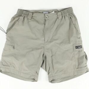 Columbia GRT Omni-Dry Polyester Microfiber Hiking Shorts  Brown Men's M