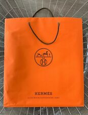 Authentic HERMES Large Shopping GIFT BAG PAPER Tote for Birkin 30 or Kelly/Lindy