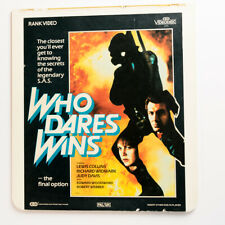CED VideoDisc UK PAL Lewis Collins WHO DARES WINS