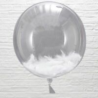 "GIANT White Feather Fill BALLOONS 3 Pk ~ 18"" ~ Luxury ~ Party Garland available"