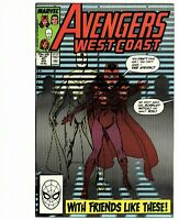 Avengers West Coast # 47 (Marvel)1989 -- White Vision/Scarlet Witch -- VF/NM