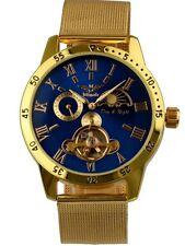 Relojes Minoir-modelo Avignon oro/azul Automatikuhr reloj Hombre