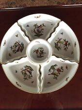 Herend ROTHSCHILD BIRD LARGE 7 Piece Hors d Oeuvres, Relish Tray, Mint!!
