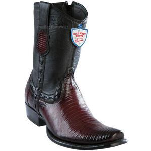 Men's Wild West Genuine Teju Lizard Western Boots With Zipper Dubai Toe