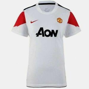 NIKE Trikot Manchester United weiß rot T-Shirt MUFC MANU Away NEU Größe XS