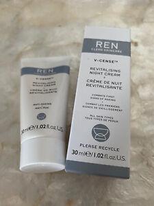 REN CLEAN SKINCARE REVITALISING NIGHT CREAM 30ML NEW