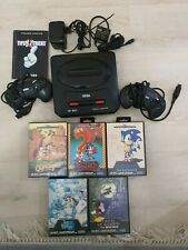 Sega Mega Drive II Spielekonsole - Schwarz mit Spielen