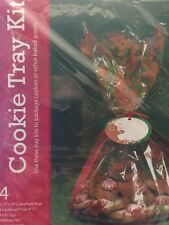 Set 4 christmas cookie tray Complete Kit Cell Bags Tray Tags & Ties All In One