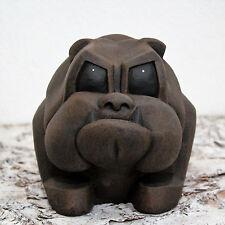 Bulldogge-Figur - in Dunkelbraun, Deko-Bulldogge Bulldogge-Statue Hunde-figur
