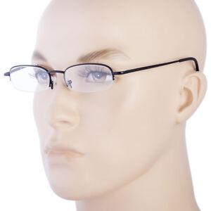 Retro Rectangle Reading Glasses Metal Frame Metal Hinges High Power  1.00 Up B