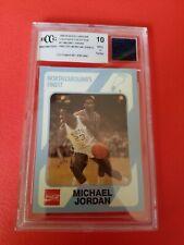 MICHAEL JORDAN COLLEGE ROOKIE CARD GRADED BCCG 10 MINT+ & WORN N CAROLINA SHORTS