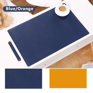 Dual Sided PU Leather Mouse Pad Office Computer Keyboard Desk Protector Mat