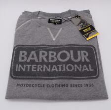 Barbour International Triumph Motorcycles Grey International Logo Sweatshirt NEW