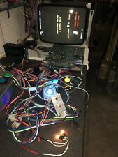 Ms PacMan Arcade Game PCB Conversion Kit Harness Lighted Joystick & Buttons