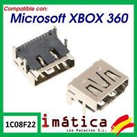 CONECTOR HDMI PARA MICROSOFT XBOX 360 SLIM PUERTO CABLE VIDEO CONSOLA IMAGEN