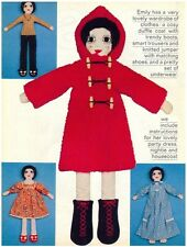 Emily Rag Doll and Clothes DIAGRAM Sewing Pattern S10033 (NOT FINISHED ITEMS)