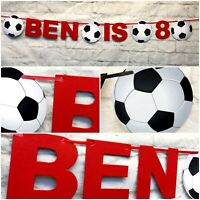 Personalised Football team liverpool Birthday Bunting Party FC Banner