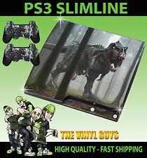 PLAYSTATION PS3 SLIM T Rex Dinosaurio Tyrannosaurus Pegatina Zombie Piel + almohadilla de la piel