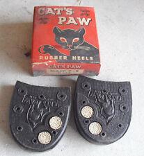 Vintage 1950s Cat's Paw Twin Grip Rubber Shoe Heels 7-8 in Box