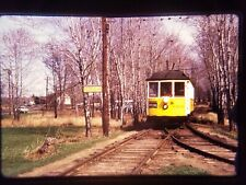 IZ02 TRAIN Slide * Vintage Cable Car Special Warehouse Point with Trees