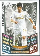 TOPPS MATCH ATTAX 2012-13- #283-SWANSEA CITY & SOUTH KOREA-KI SUNG-YUENG