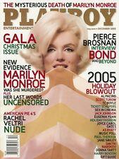 PLAYBOY DECEMBER 2005 Marilyn Monroe Christine Smith Pierce Brosnan Al Pacino