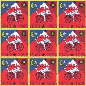 ALBERT HOFMANN RED BIKE RIDE - 9 PANEL BLOTTER - 900 SQUARES