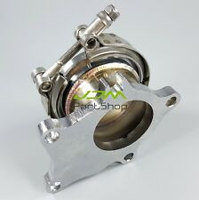 """5 Bolt to 2.5 """" V-Band Adapter + flange + clamp For GT35 T3 T4 GT3071R TURBO"""
