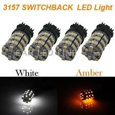 4× 3157 Switchback White/Amber SMD 60 LED Turn Signal Corner Light Bulbs For GMC