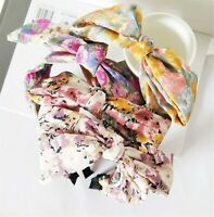 Women Retro Boho floral Bow knot Hair Headband Head Wrap Band hoop